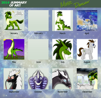 Mike's Art in 2014 by Mike-Dragon