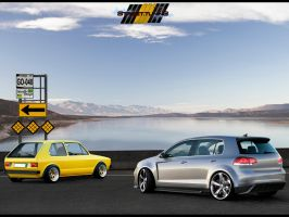 Golfs _ Mk1 and  GTi by MurilloDesign