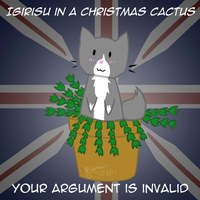 Igirisu in a Christmas Cactus.... by XRed-moon