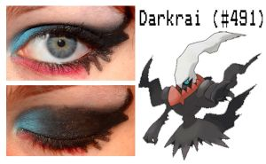 Pokemakeup 491 Darkrai by nazzara