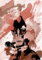 Mordin Solus Watercolour by MaddyField