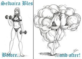 Selvaria Bles FMG - Before and After by GrandMasterLucilious