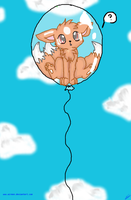 Kinka In a Balloon by Airmon