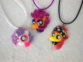 MLP CMC Rock version Pendants by LittleBreeze