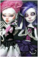Pink and Violet by kamarza
