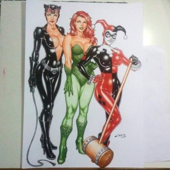 GOTHAM CITY SIRENS done !!! by carlosbragaART80
