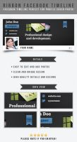 Ribbon Facebook Timeline Template by frozencolor