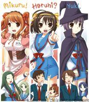 Haruhi bookmarks by kamifish