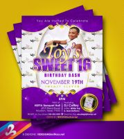Sweet 16 Invitation by AnotherBcreation