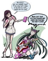 Request: Ibuki Mioda and Tsumiki from DanganRonpa2 by HofBondage