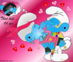 Smurfy Valentines Exchange For Kiss-the-Iconist by EnriqueArreguin777