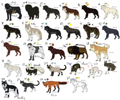 27 GREAT ADOPTABLES - MIXED by NekoSkunk