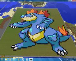 Minecraft Feraligatr by Nzabob