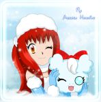 Alessandra and FluffyCloudymon by LadyAuroraHoshime