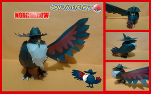 Honchkrow papercraft by javierini