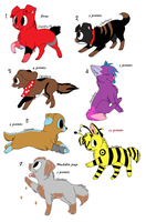 Adoptable puppies - Prices vary. by RoguetheScarredAngel