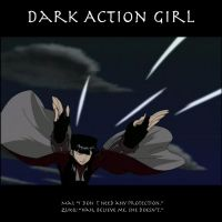 Dark Action Girl by SaucePear