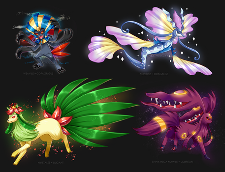 More Pokemon Fusions by NightComet