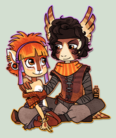 Rita and Drakar by griffsnuff