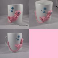 Mew Mug with Tiny Bubbles by ChibiSilverWings