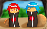 Solerin y Soleron Akatsuki Version Full Color by Forze9dark