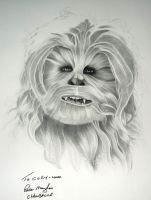 Early Chewbacca Drawing by corysmithart