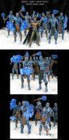 Frost King Loki with Frost Giant Army by Jin-Saotome