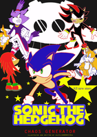 sonic comic cover by xRubiMalonex