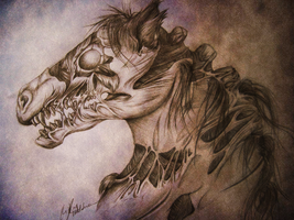 zombie horse by OpheliaArts