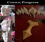 Ye old crown progress pics by ThePrincessZelda