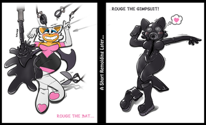 Flattened Rouge Gimpsuit Transformation by Redflare500
