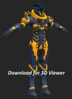 3D Model Viewer: Scifi Soldier by Seig-Verdelet