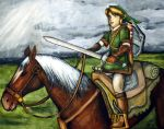 Link and Epona 1 by herbalcell