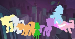 MLP: Power Ponies (2nd version) by KikiRDCZ