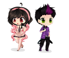 :DC: Glitch and Cayley by Purrinee