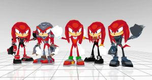 Knuckles costumes from Sonic rivals 2 by JJpros