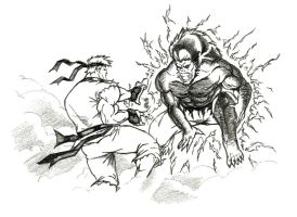 Ryu vs Blanka faces off by force2reckon