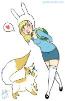 Fionna and Cake by Lyndez