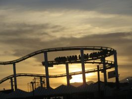 ROLLER COASTER AT SUNSET by KerensaW