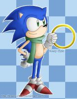 Sonic The Hedgehog by Krazy-Chibi