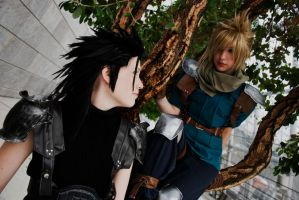Zack and Cloud by Franky-chan