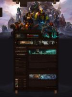 WoW Rises - A World of Warcraft Website Design by LoomarEvO