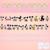 Iconos Mickey Y sus Friends - By Crayoncita by TutosCrayoncita