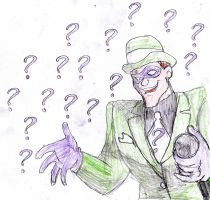The Riddler animated carachter by luiganddaisy