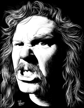 James Hetfield (Ink drawing) by wilson-santos