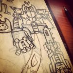 Adventure Time mecha robot sketch by ExoesqueletoDV