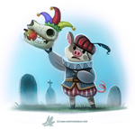 Daily Paint #1250. Hamlet by Cryptid-Creations