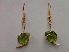 Kokiri's Emerald Earrings by meimmo