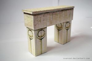 Gate of the Kiss Papercraft by svanced 2 by svanced