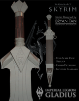 Skyrim - Imperial Sword Paper Model by RocketmanTan